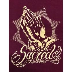 T-shirt Sacred Kustoms - red