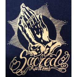 T-shirt Sacred Kustoms - blue