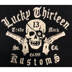 T-shirt Lucky 13 - Skull -Guns