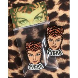 Tigra Girl pin