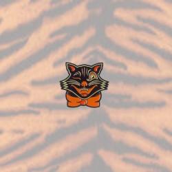 Sourpuss Black Cat enamel pin