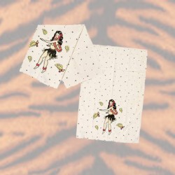 Sourpuss Hula Girl Tea Towel